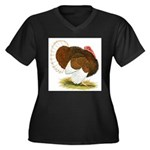 Bourbon Red Tom Turkey Women's Plus Size V-Neck Da