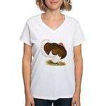 Bourbon Red Tom Turkey Women's V-Neck T-Shirt