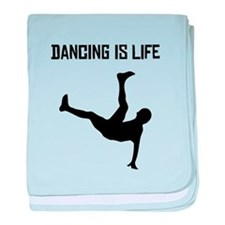 Dancing Is Life baby blanket