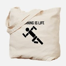 Running Is Life Tote Bag