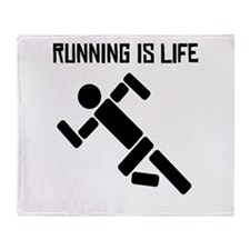 Running Is Life Throw Blanket