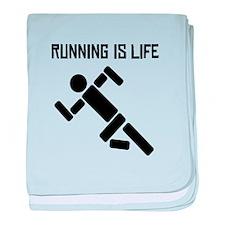 Running Is Life baby blanket