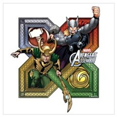 Thor VS Loki Wall Art Poster