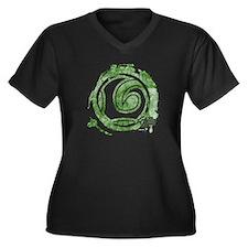 Loki Grunge Women's Plus Size V-Neck Dark T-Shirt