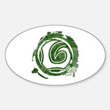 Loki Grunge Icon Sticker (Oval)
