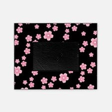 Cherry Blossoms Black Pattern Picture Frame