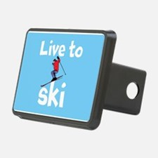 LIVE TO SKI Hitch Cover