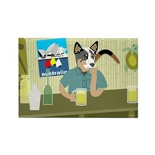 Australian Cattle Dog Tiki Bar Magnet