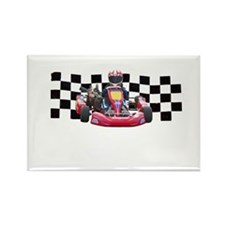 Kart Racer with Checkered Flag Magnets