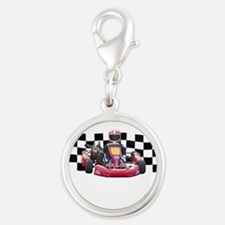 Kart Racer with Checkered Flag Charms