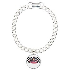 Kart Racer with Checkered Flag Bracelet