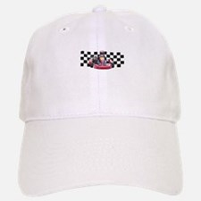 Kart Racer with Checkered Flag Baseball Baseball Baseball Cap