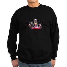 Kart Racer with Checkered Flag Sweatshirt