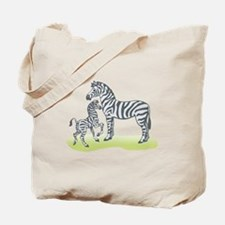 Mommy and Baby Zebra Tote Bag