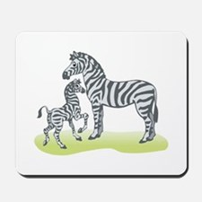 Mommy and Baby Zebra Mousepad