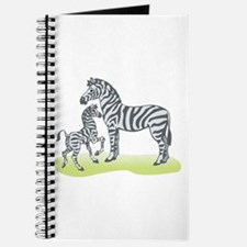 Mommy and Baby Zebra Journal