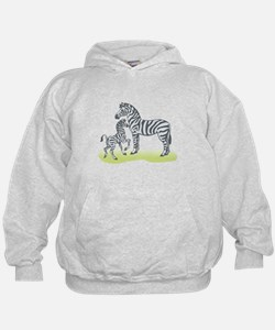 Mommy and Baby Zebra Hoodie