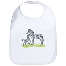 Mommy and Baby Zebra Bib