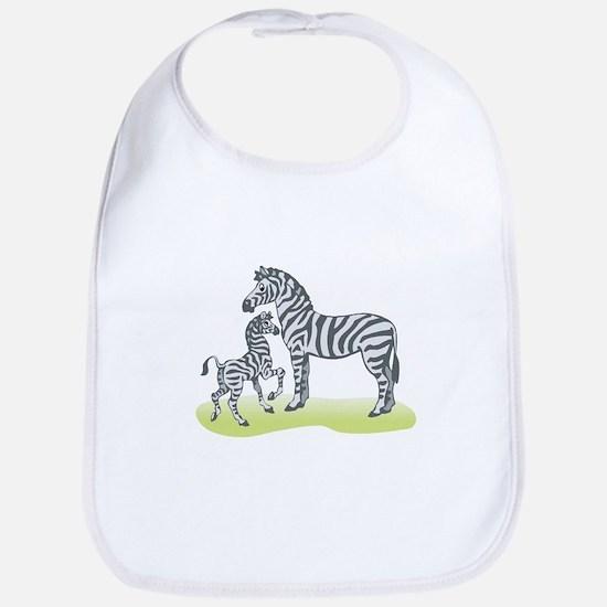 Mommy and Baby Zebra Bib