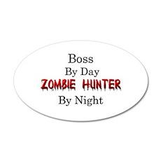 Boss/Zombie Hunter 35x21 Oval Wall Decal