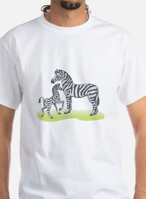 Mommy and Baby Zebra Shirt