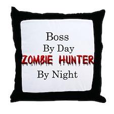 Boss/Zombie Hunter Throw Pillow