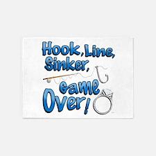 Hook, Line, Sinker, Game over! v2 5'x7'Area Rug