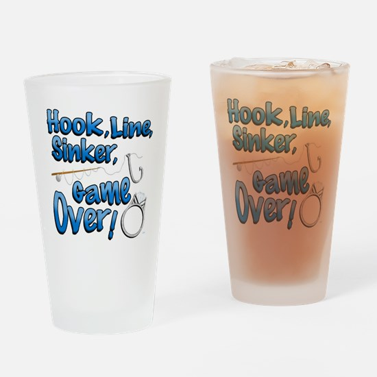 Hook, Line, Sinker, Game over! v2 Drinking Glass