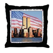 9/11 memorial / Remember Throw Pillow