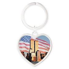 9/11 memorial / Remember Heart Keychain