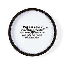 Science Fact Wall Clock