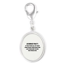 Science Fact Silver Oval Charm
