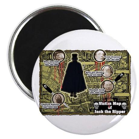 Jack the Ripper Victim Map Original Magnet