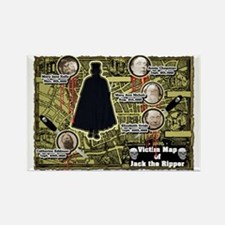 Jack the Ripper Victim Map Original Rectangle Magn