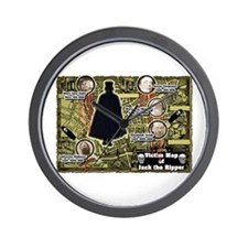 Jack the Ripper Victim Map Original Wall Clock
