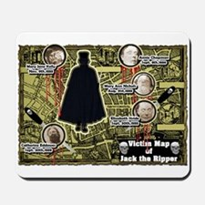 Jack the Ripper Victim Map Original Mousepad