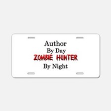 Author/Zombie Hunter Aluminum License Plate