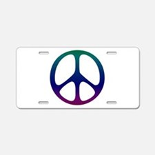 Pastel Rainbow Aluminum License Plate