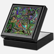 Psychedelic colors melt  Keepsake Box