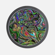 Psychedelic colors melt  Wall Clock