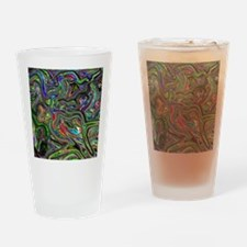 Psychedelic colors melt  Drinking Glass