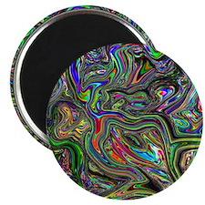 Psychedelic colors melt  Magnet