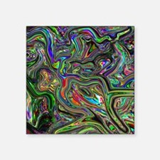 "Psychedelic colors melt  Square Sticker 3"" x 3"""