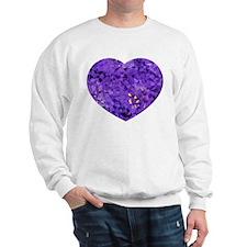 Purple Confetti Hearts Sweatshirt