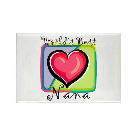 World's Best Nana Rectangle Magnet