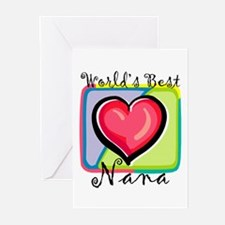 World's Best Nana Greeting Cards (Pk of 10)