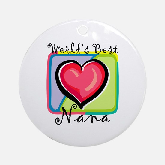 World's Best Nana Ornament (Round)