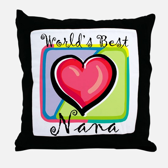 World's Best Nana Throw Pillow