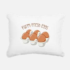 Farm Fresh Eggs Rectangular Canvas Pillow