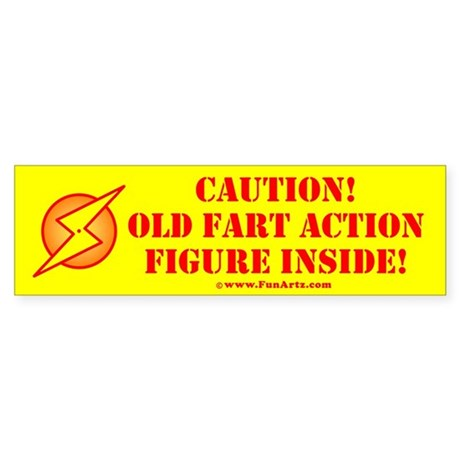 Fathers Day Old Fart Action Figure Bumper Sticker